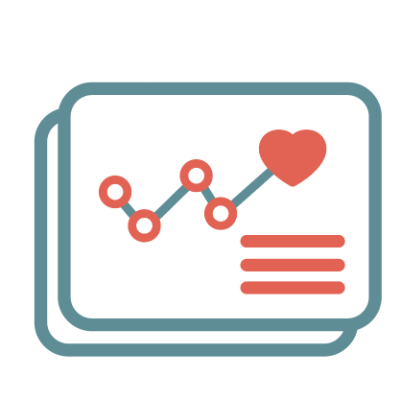 graph heart icon