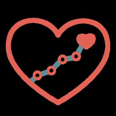 heart trend icon