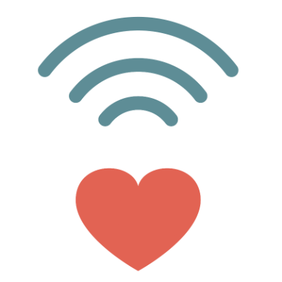 wifi heart icon