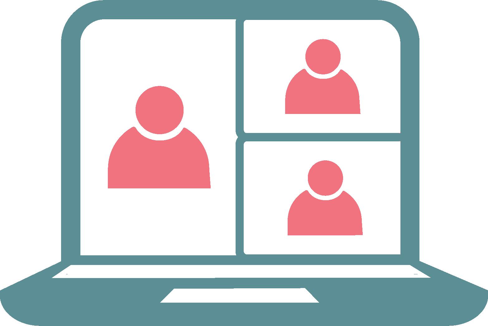 laptop meeting icon